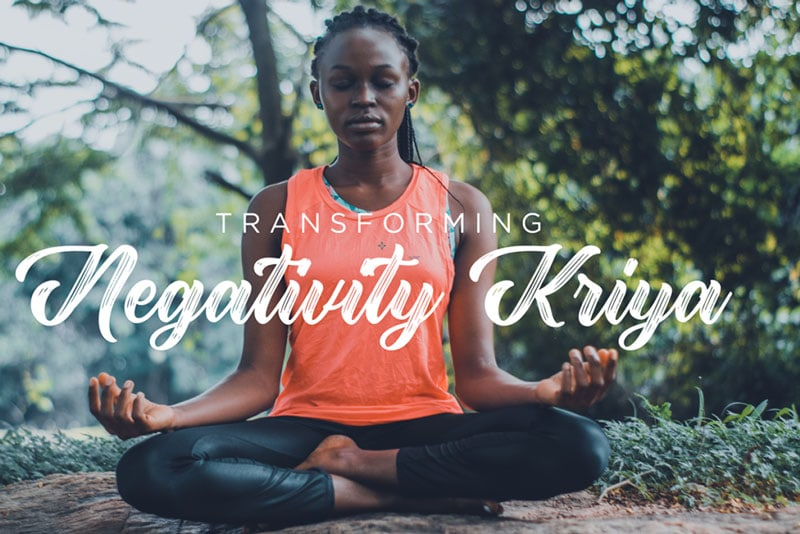 Image of African American woman meditating